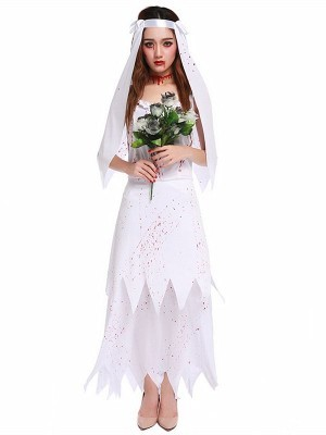 Zombie Bride Women's Halloween Fancy Dress Costume