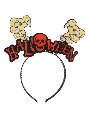 Witches Hand & Skull Halloween Headband