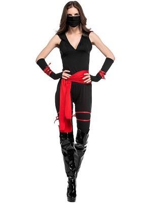 Female Ninja Fancy Dress Costume