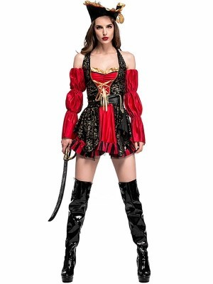 Sexy Swashbuckling Pirate Fancy Dress Costume