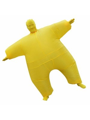 Yellow Mega Morph Inflatable Sumo Suit Fancy Dress Costume