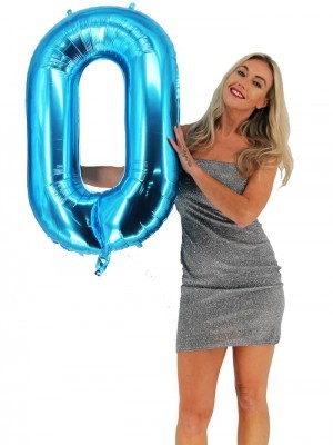 Extra Large size 40 Inch Inflatable Blue Balloon Number 0