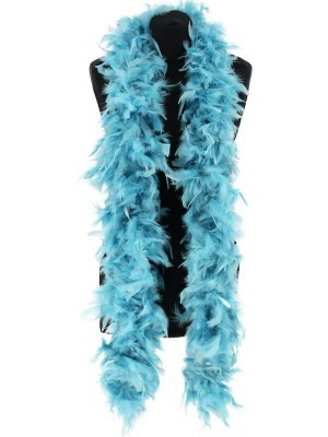 Deluxe Dusty Blue Feather Boa – 100g -180cm