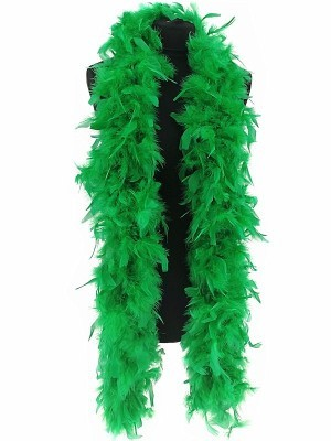Deluxe Green Feather Boa – 100g -180cm
