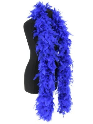Deluxe Royal Blue Feather Boa – 100g -180cm
