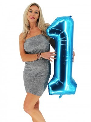 Extra Large size 40 Inch Inflatable Blue Balloon Number 1