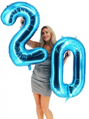 Extra Large size 40 Inch Inflatable Blue Balloon Number 2