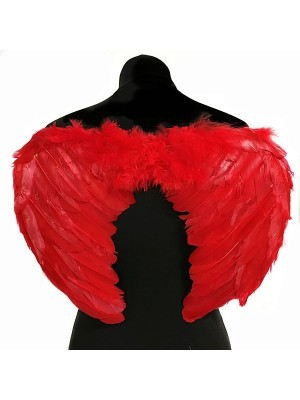 Red Feather Angel Wings Medium