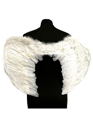 White Feather Angel Wings Large