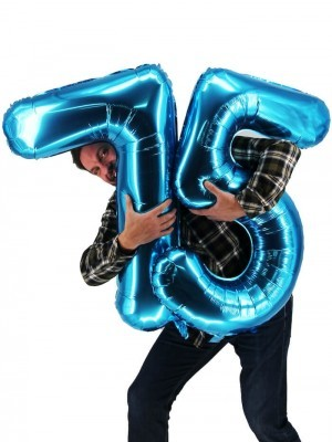 Extra Large size 40 Inch Inflatable Blue Balloon Number 5