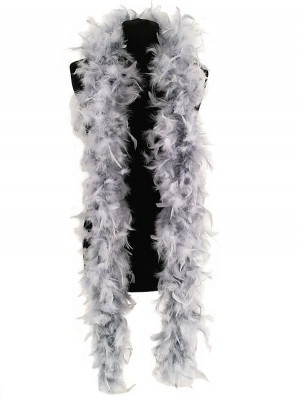 Luxury Silver Grey Feather Boa – 80g -180cm