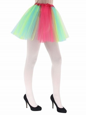 Adult - Neon Rainbow Colour Tutu Skirt