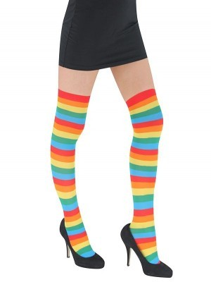 Adult Stockings - Rainbow Stripes