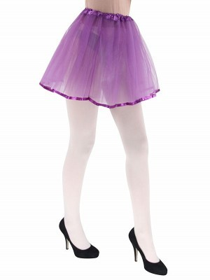 Adult - Purple Tutu Skirt with Ribbon Trim