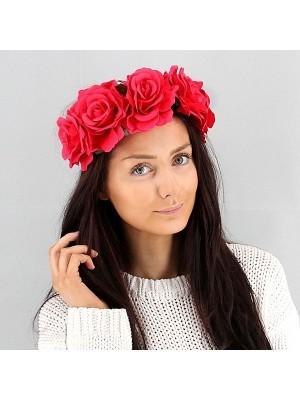 Beautiful Fuchsia Pink Garland Flower Headband