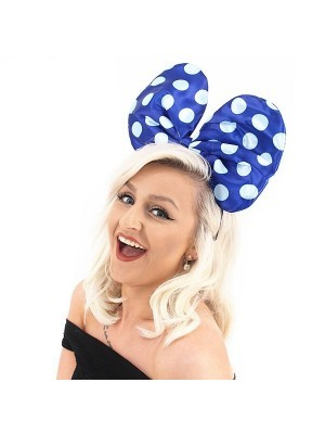 Large Mouse Style Blue Dot Bow