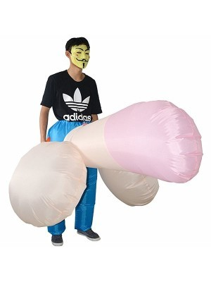 Big Boner Party Pants Inflatable Willy Fancy Dress Costume