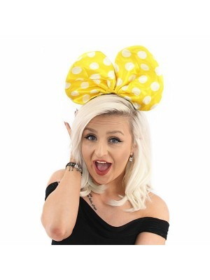 Minnie Mouse Style Yellow Dot Bow