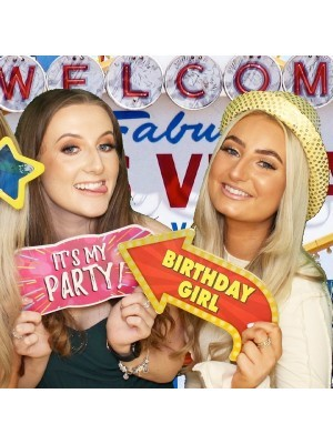 'Birthday Girl' Vegas Showtime Style Photo Booth Prop