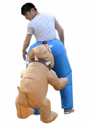 Bite you on the Bum Trousers Dog Bite Inflatable Fancy Dress Costume