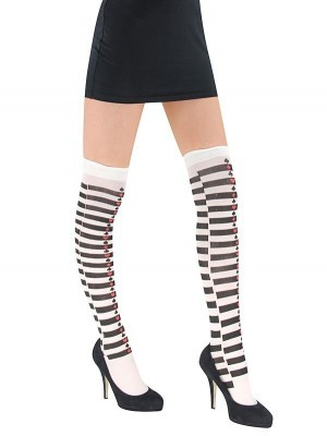Black and White Harlequin Stockings