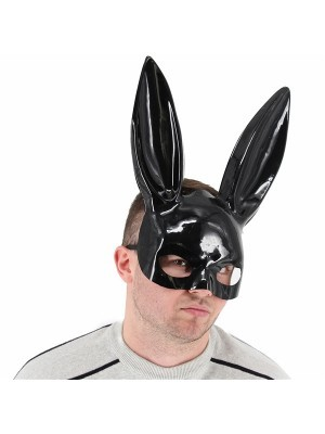 Black Bunny Girl Masquerade Mask with Bunny Ears