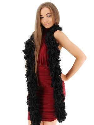 Luxurious Black Featherless Boa