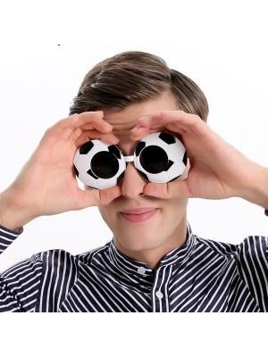 Black & White Football Soccer Glasses