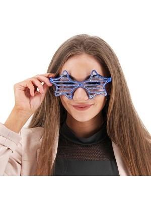 Blue Star Sunglasses With Diamonds