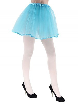 Adult - Blue Tutu Skirt With Ribbon Trim