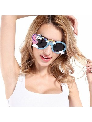 Blue Unicorn Rainbow Sunglasses
