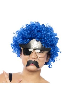 Afro Wig Blue