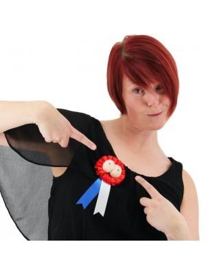 Novelty Boobs Rosette Badge