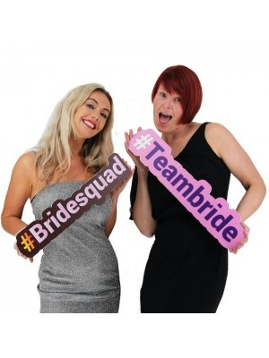#BRIDESQUAD Trending Hashtag Oversized Photo Booth PVC Word Board Sign