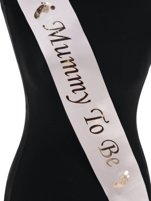 Champagne With Rose Gold Foil 'Mummy To Be' Sash