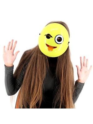 Cheeky Wink Emoji Mask