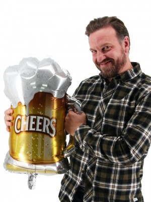 Giant Pint Frothy 'Cheers' Beer Balloon