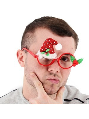 Christmas Santa Hat Glasses