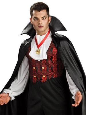 Count Dracula Vampire Men's Halloween Costume Medium