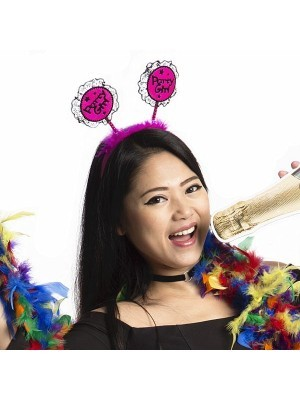 Lace 'Party Girl' Dark Pink Headband