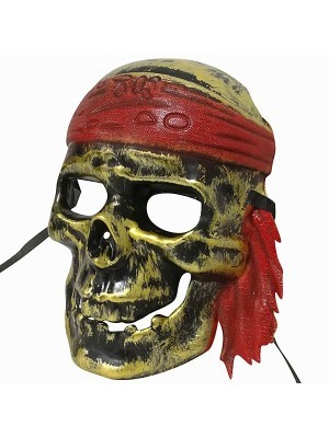 Pirates Of The Caribbean Dead Ghost Pirate Skull Mask Gold