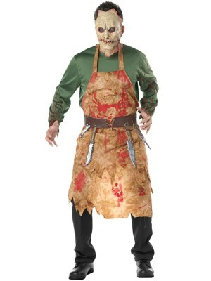 Demented Butcher Male Fancy Dress Halloween Costume