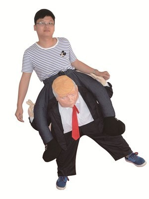 Donald Trump Ride Inflatable Joke Illusion Fancy Dress Costume
