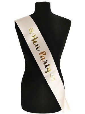 Champagne With Gold Foil 'Hen Party' Sash