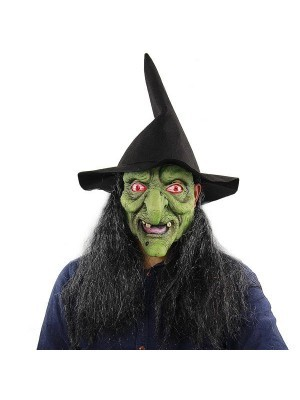 Fancy Dress, Costume Classic Green Witch Mask
