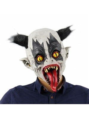 Fancy Dress, Costume Evil Clown Mask With Tongue Out