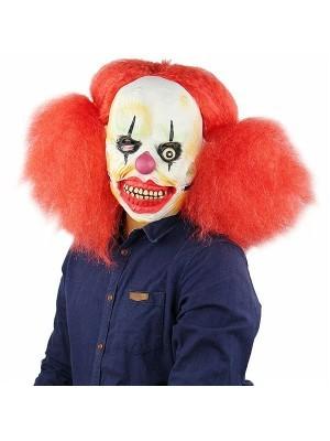 Crazy Afro Clown Mask Halloween Fancy Dress Costume