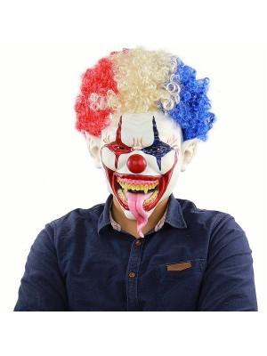 Tongue of Terror Clown Mask Halloween Fancy Dress Costume
