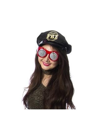 Hypnotic Dizzy Eye Red Goggles