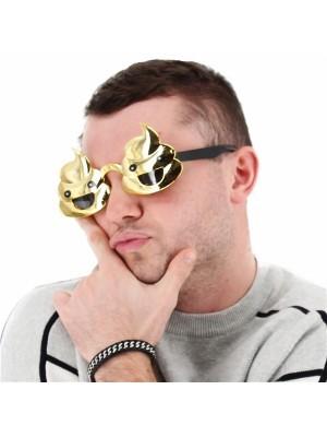 Funny Shiny Gold Poop Sunglasses